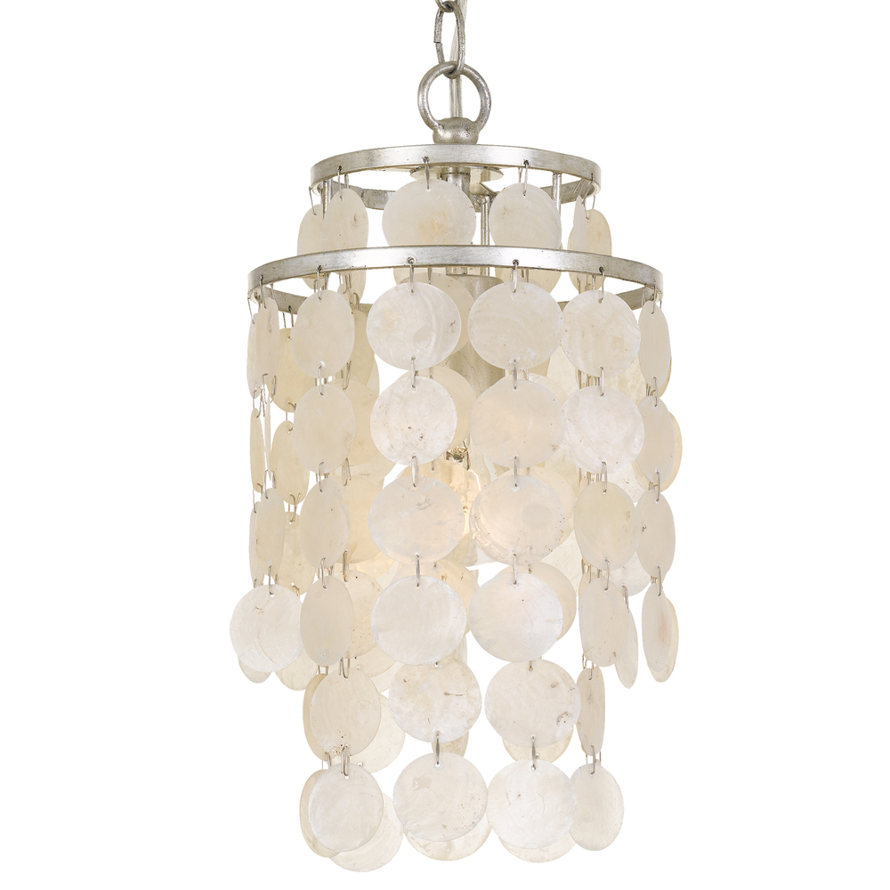 eclectic lighting. 1 Light Antique Silver Eclectic Mini Chandelier Lighting E