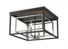 Z-Lite 457F-CH-MB - 4 Light Flush Mount