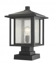 Z-Lite 554PHBS-SQPM-BK - 1 Light Outdoor Pier Mounted Fixture