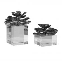 Uttermost 20158 - Uttermost Indian Lotus Metallic Silver Flowers S/2