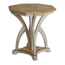 Uttermost 25623 - Uttermost Ranen Aged White Accent Table