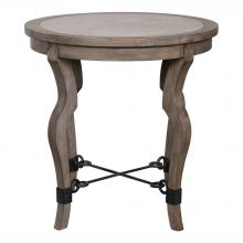 Uttermost 25970 - Uttermost Blanche Travertine Lamp Table